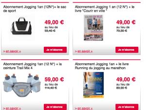 le bon plan running avec l'Abonnement Jogging International