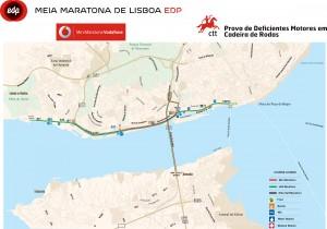 parcours du semi-marathon de Lisbonne