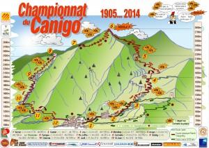 parcours trail du canigou 34km D+2180 et D-2180 (aout2013)