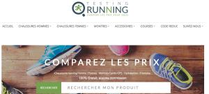 Comparateur de prix et articles running avec Testing Running