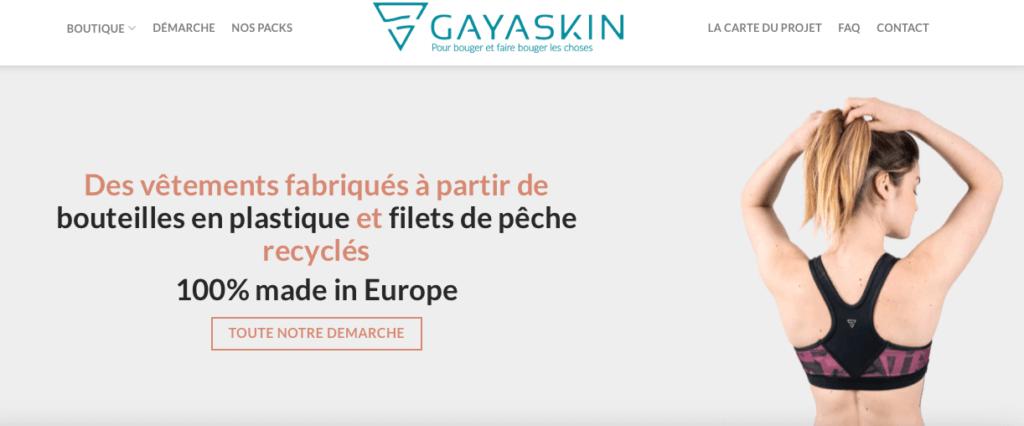 article Gayaskin la marque sportswear responsable by Fibre-running