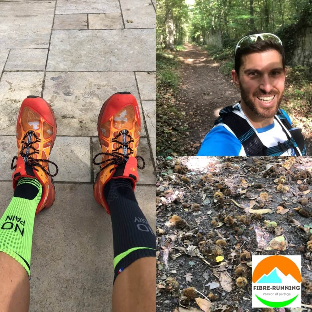 Test chaussette de trail en foret by fibre running