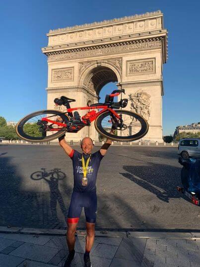 lionel Jourdan, triathlète amateur et passionné, finisher de l'enduroman